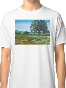 Devon Sun - Landscape Painting English Countryside Classic T-Shirt