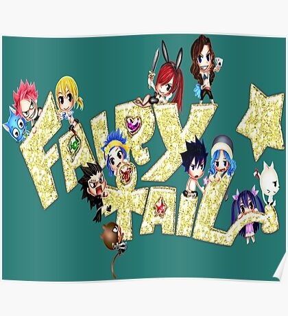 Chibi Fairy Tail Blink - Anime Poster