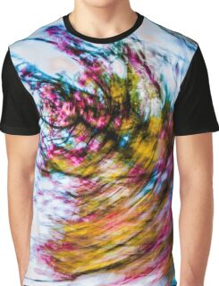 Vibrant Spring Blossom Whirl Graphic T-Shirt