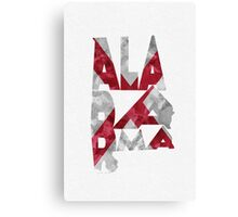 Alabama Typographic Map Flag Canvas Print