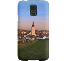 Village and church in warm sundown light II | landscape photography Samsung Galaxy Case/Skin
