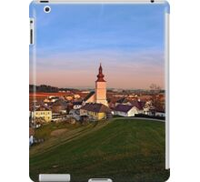 Village and church in warm sundown light II | landscape photography iPad Case/Skin
