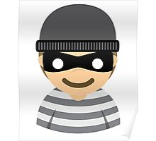 Mask Thief Emoji Happy Smiling Face Poster