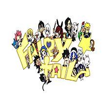 Fairy Tail Chibi Anime Photographic Print