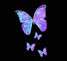 Purple Butterflies by Jan Marvin by Jan Marvin