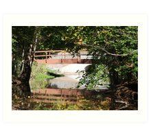 Holley NY Canal Bridge Art Print