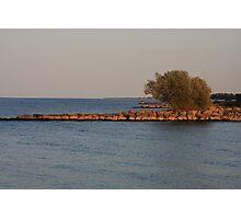 Jetty, Lake Ontario, Hamlin Beach Photographic Print