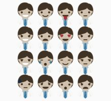 Doctor Emoji 16 Different Expressions One Piece - Short Sleeve