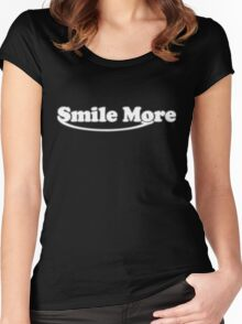Smile more T-shirt Women's Fitted Scoop T-Shirt