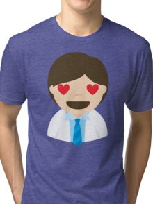Doctor Emoji Heart and Love Eyes Tri-blend T-Shirt