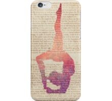 Old yoga page iPhone Case/Skin