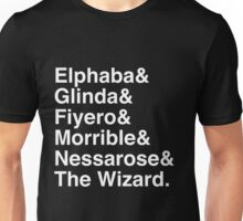 Wicked - Character List (White Text) Unisex T-Shirt