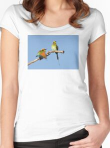 Rainbow Bee-eaters ~ Early Morning Stretch Women's Fitted Scoop T-Shirt