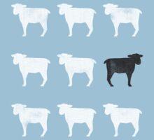 Many White Sheep: One Black Sheep Kids Tee