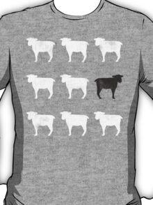 Many White Sheep: One Black Sheep T-Shirt