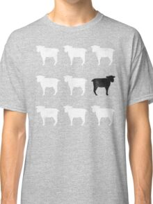 Many White Sheep: One Black Sheep Classic T-Shirt