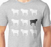 Many White Sheep: One Black Sheep Unisex T-Shirt