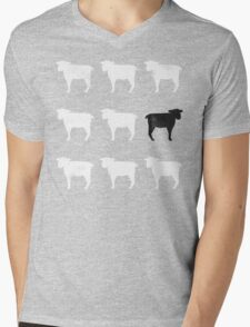 Many White Sheep: One Black Sheep Mens V-Neck T-Shirt