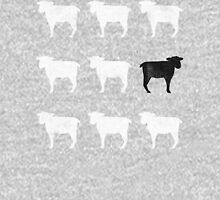 Many White Sheep: One Black Sheep Unisex T-Shirt