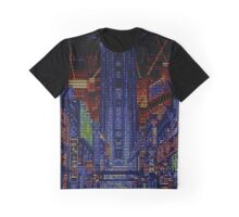 New Kobe City pixels and scanlines Graphic T-Shirt