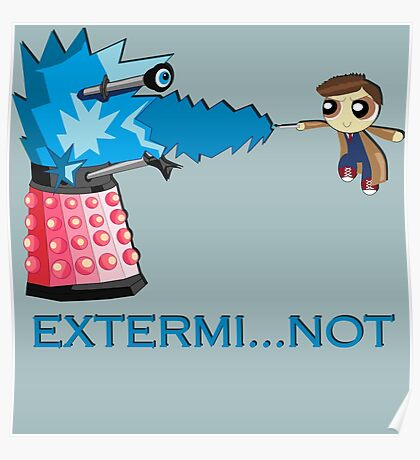 Extermi-not Powerpuff Tenth Doctor Poster