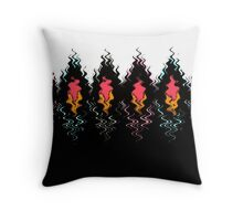 Colorful black and white pattern . Throw Pillow