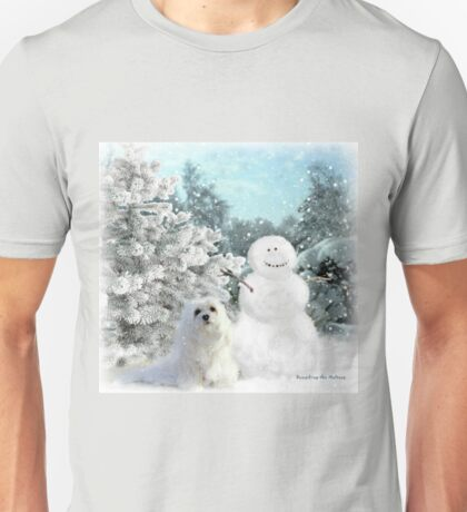 Snowdrop the Maltese & The Snowman Unisex T-Shirt