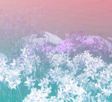 pastel gradient flower landscape Sticker