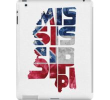 Mississippi Typographic Map Flag iPad Case/Skin
