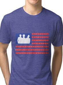 No Trump - No KKK - No Fascist USA Flag  Tri-blend T-Shirt