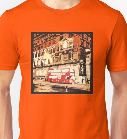 London Bus at Night Unisex T-Shirt