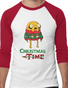 Christmas Jake - Adventure Time Men's Baseball ¾ T-Shirt