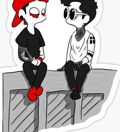 Josh and Tyler - piano Sticker
