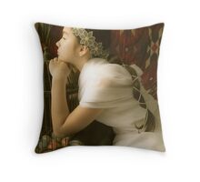 The bird flew away.... Throw Pillow
