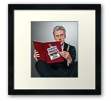 12th Doctor Framed Print