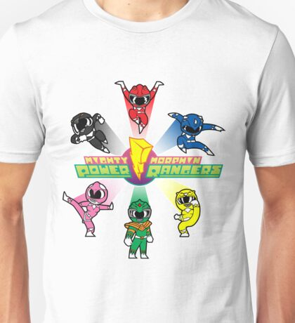 Mighty Morphin Cutesy Rangers Unisex T-Shirt