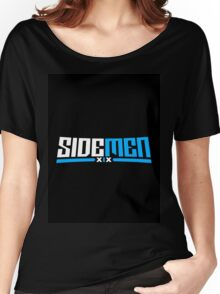 Blue & Black Sidemen Logo Women's Relaxed Fit T-Shirt