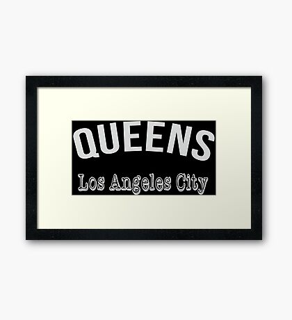 Queens Los Angeles City Framed Print