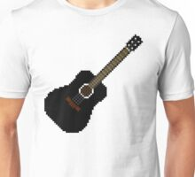 Black acoustic guitar Unisex T-Shirt