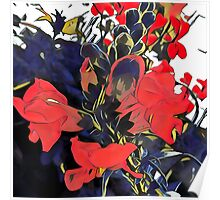 red blossoms Poster