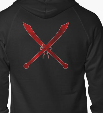 Dadao (Big Swords) crossed Zipped Hoodie