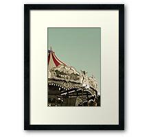 Vintage carousel ride Framed Print