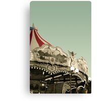Vintage carousel ride Canvas Print