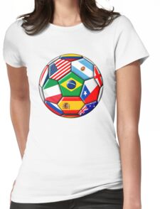 Brazil 2014 - soccer with various flags Womens Fitted T-Shirt