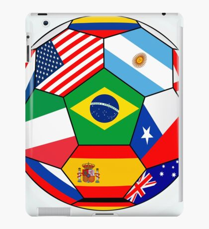 Soccer with various flags - Brazil 2014 iPad Case/Skin