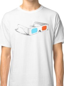Retro 3D Glasses Classic T-Shirt