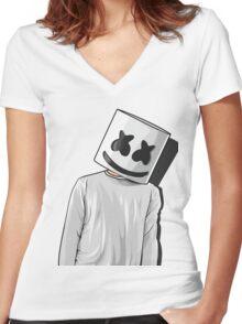Marsmello - Mellogang Women's Fitted V-Neck T-Shirt