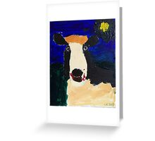 Cow at night Greeting Card