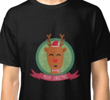 Christmas Reindeer with Snowflakes Classic T-Shirt