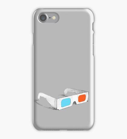 Retro 3D Glasses iPhone Case/Skin